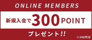 新規登録 300ポイントプレゼント