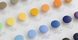 ボタンの染色やオリジナルカラー